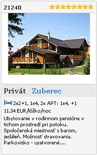 Privát 21240 Zuberec - Orava