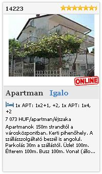 Limba.com - Igalo, Apartman, Szlls 14223