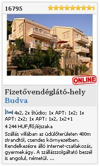 Limba.com - Budva, Fizetvendglt-hely, Szlls 16795