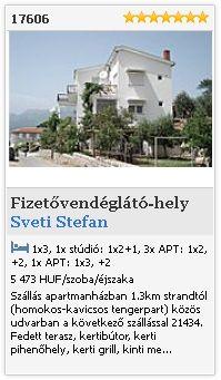 Limba.com - Sveti Stefan, Fizetővendéglátó-hely, Szállás 17606