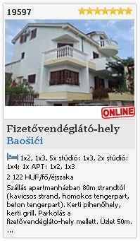 Limba.com - Baošići, Fizetővendéglátó-hely, Szállás 19597