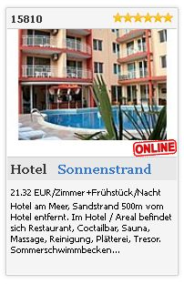 Limba.com - Sonnenstrand, Hotel, Unterkunft 15810