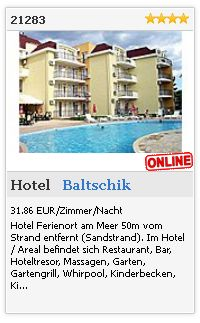 Limba.com - Baltschik, Hotel, Unterkunft 21283