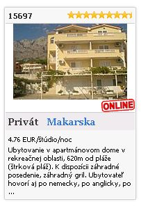Limba.com - Makarska, Privát, Ubytovanie 15697