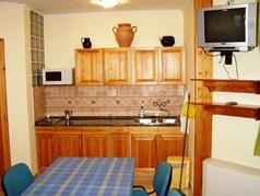 Minden apartman konyhával felszerelt