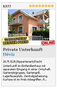 Limba.com - Hévíz, Private Unterkunft, Unterkunft 6377