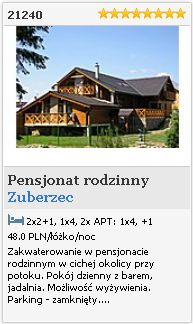 Zuberzec   Pensjonat rodzinny  21240