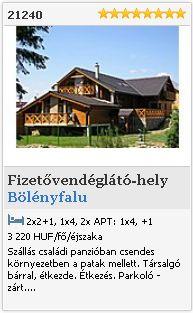 Bölényfalu   Fizetővendéglátó-hely  21240