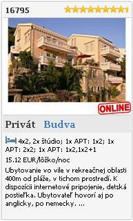Limba.com - Budva, Privát, Ubytovanie 16795