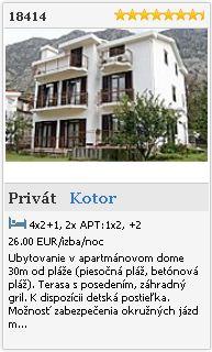 Limba.com - Kotor, Privát, Ubytovanie 18414