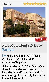 Limba.com - Budva, Fizetővendéglátó-hely, Szállás 16795