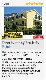 Limba.com - Bijela, Fizetővendéglátó-hely, Szállás 17039