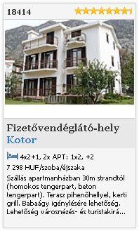 Limba.com - Kotor, Fizetővendéglátó-hely, Szállás 18414
