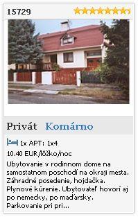 Limba.com - Komárno, Privát, Ubytovanie 15729