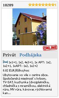 Limba.com - Podhájska, Privát, Ubytovanie 18289