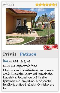 Limba.com - Patince, Privát, Ubytovanie 22283