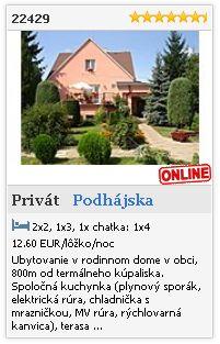 Limba.com - Podhájska, Privát, Ubytovanie 22429