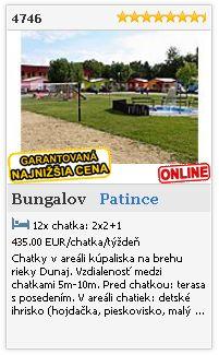 Limba.com - Patince, Bungalov, Ubytovanie 4746