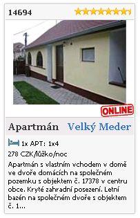 Limba.com - Velký Meder, Byt, Ubytování 14694