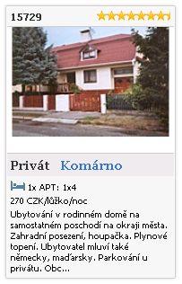 Limba.com - Komárno, Privát, Ubytování 15729