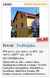 Limba.com - Podhájska, Privát, Ubytování 18289