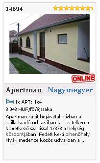 Limba.com - Nagymegyer, Apartman, Szállás 14694
