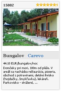 Limba.com - Carevo, Bungalov, Ubytovanie 15882