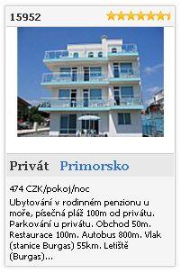 Limba.com - Primorsko, Privát, Ubytování 15952