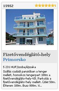 Limba.com - Primorsko, Fizetővendéglátó-hely, Szállás 15952