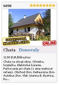 Limba.com - Donovaly, Chata, Ubytovanie 6898